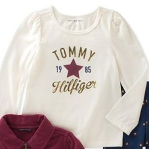 Tommy Hilfiger Matching Sets - Tommy Hilfiger Burgundy Ruffle Zip-Up Jacket Set
